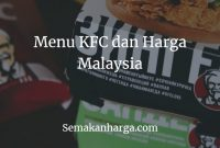 Menu KFC dan Harga