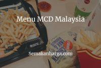 Menu MCD Malaysia