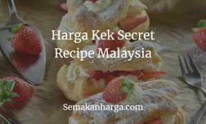Harga Kek Secret Recipe