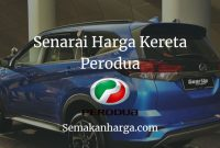 Harga Kereta Perodua